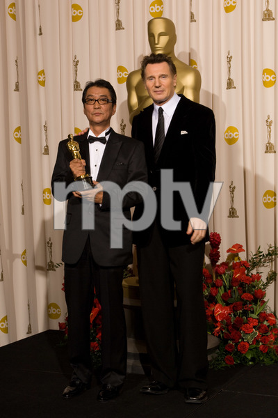 """The 81st Annual Academy Awards"" (Press Room)Yojiro Takita, Liam Neeson02-22-2009Photo by Bryan Crowe © 2009 A.M.P.A.S. - Image 23704_0298"