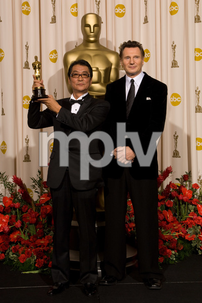"""The 81st Annual Academy Awards"" (Press Room)Yojiro Takita, Liam Neeson02-22-2009Photo by Bryan Crowe © 2009 A.M.P.A.S. - Image 23704_0299"