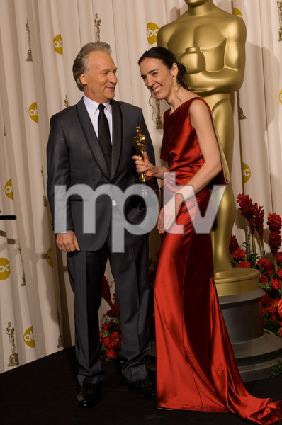 """""""The 81st Annual Academy Awards"""" (Press Room)Bill Maher, Megan Mylan02-22-2009Photo by Bryan Crowe © 2009 A.M.P.A.S. - Image 23704_0306"""