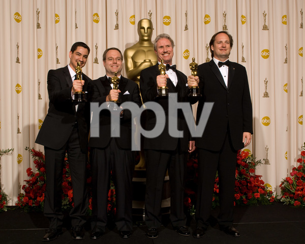 """The 81st Annual Academy Awards"" (Press Room)Eric Barba, Steve Preeg, Burt Dalton, Craig Barron02-22-2009Photo by Bryan Crowe © 2009 A.M.P.A.S. - Image 23704_0310"