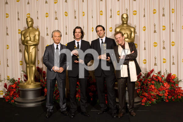"""""""The 81st Annual Academy Awards"""" (Press Room)Bill Maher, James Marsh, Simon Chinn, Philippe Petit02-22-2009Photo by Bryan Crowe © 2009 A.M.P.A.S. - Image 23704_0319"""