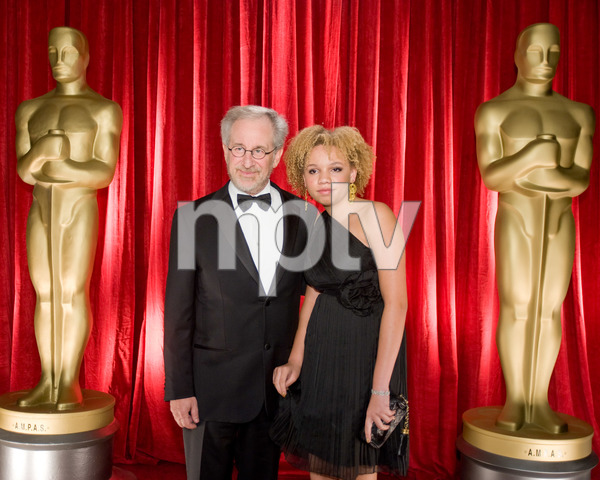 """""""The 81st Annual Academy Awards"""" (Backstage)Steven Spielberg, Mikaela George Spielberg02-22-2009Photo by Michael Yada © 2009 A.M.P.A.S. - Image 23704_0359"""