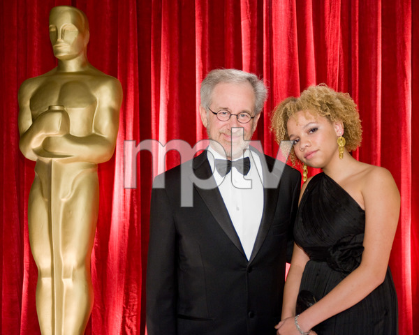 """""""The 81st Annual Academy Awards"""" (Backstage)Steven Spielberg, Mikaela George Spielberg02-22-2009Photo by Michael Yada © 2009 A.M.P.A.S. - Image 23704_0360"""