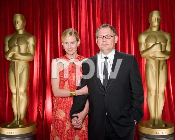 """The 81st Annual Academy Awards"" (Backstage)Janusz Kaminski, Rebecca Rankin02-22-2009Photo by Michael Yada © 2009 A.M.P.A.S. - Image 23704_0368"