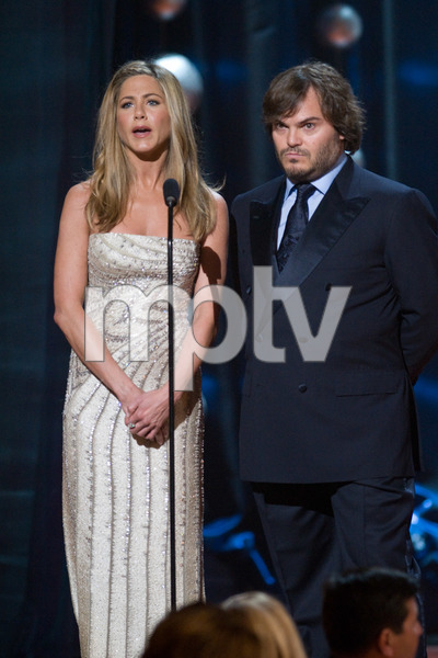 """The 81st Annual Academy Awards"" (Telecast)Jennifer Aniston, Jack Black02-22-2009Photo by Michael Yada © 2009 A.M.P.A.S. - Image 23704_0408"