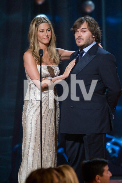 """The 81st Annual Academy Awards"" (Telecast)Jennifer Aniston, Jack Black02-22-2009Photo by Michael Yada © 2009 A.M.P.A.S. - Image 23704_0409"