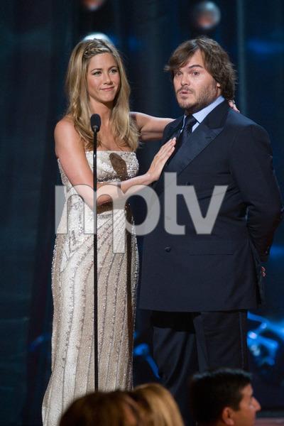 """The 81st Annual Academy Awards"" (Telecast)Jennifer Aniston, Jack Black02-22-2009Photo by Michael Yada © 2009 A.M.P.A.S. - Image 23704_0409"