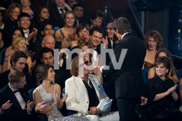 """The 81st Annual Academy Awards"" (Telecast)Hugh Jackman, Mickey Rourke02-22-2009Photo by Darren Decker © 2009 A.M.P.A.S. - Image 23704_0424"