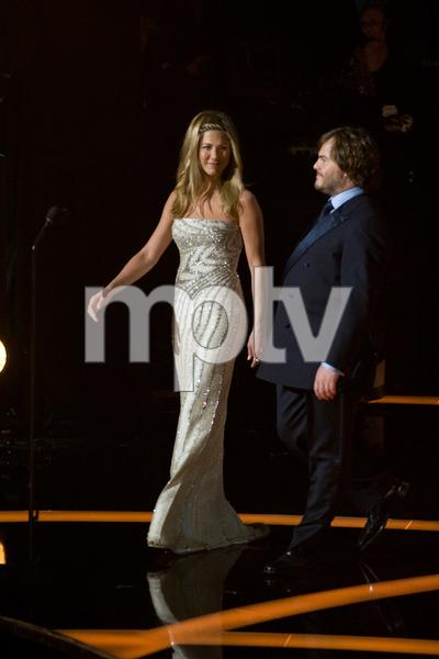 """The 81st Annual Academy Awards"" (Telecast)Jennifer Aniston, Jack Black02-22-2009Photo by Darren Decker © 2009 A.M.P.A.S. - Image 23704_0440"