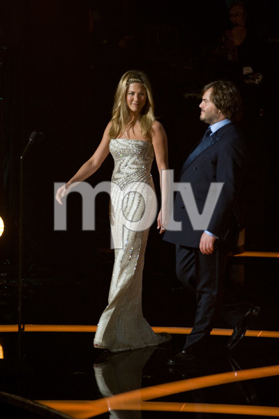 """The 81st Annual Academy Awards"" (Telecast)Jennifer Aniston, Jack Black02-22-2009Photo by Darren Decker © 2009 A.M.P.A.S. - Image 23704_0440"