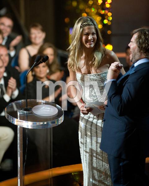 """The 81st Annual Academy Awards"" (Telecast)Jennifer Aniston, Jack Black02-22-2009Photo by Darren Decker © 2009 A.M.P.A.S. - Image 23704_0441"