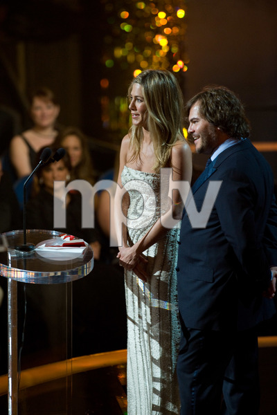 """The 81st Annual Academy Awards"" (Telecast)Jennifer Aniston, Jack Black02-22-2009Photo by Darren Decker © 2009 A.M.P.A.S. - Image 23704_0442"