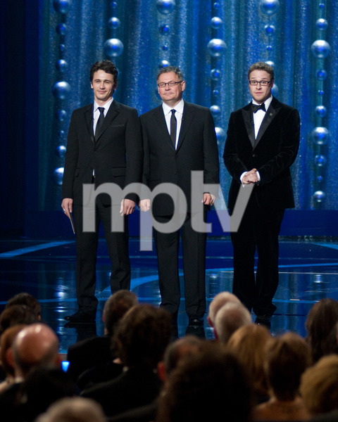 """The 81st Annual Academy Awards"" (Telecast)James Franco, Janusz Kaminski, Seth Rogen02-22-2009Photo by Michael Yada © 2009 A.M.P.A.S. - Image 23704_0493"