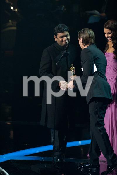 """The 81st Annual Academy Awards"" (Telecast)A.R. Rahman, Zac Efron, Alicia Keys02-22-2009Photo by Darren Decker © 2009 A.M.P.A.S. - Image 23704_0499"