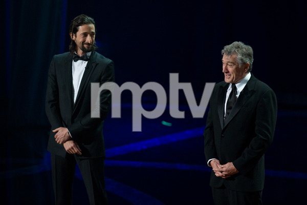 """The 81st Annual Academy Awards"" (Telecast)Adrien Brody, Robert De Niro02-22-2009Photo by Darren Decker © 2009 A.M.P.A.S. - Image 23704_0530"