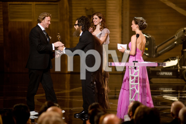 """""""The 81st Annual Academy Awards"""" (Telecast)Anthony Dod Mantle, Ben Stiller, Natalie Portman02-22-2009Photo by Michael Yada © 2009 A.M.P.A.S. - Image 23704_0568"""