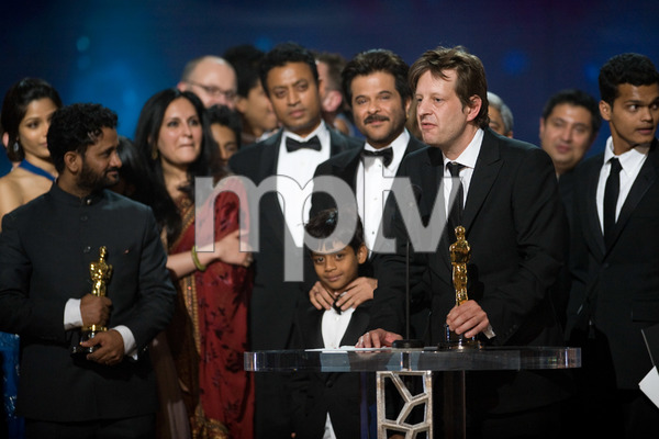 """""""The 81st Annual Academy Awards"""" (Telecast)Christian Colson, Anil Kapoor and """"Slumdog Millionaire"""" cast02-22-2009Photo by Michael Yada © 2009 A.M.P.A.S. - Image 23704_0609"""