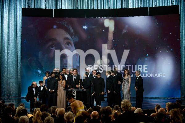 """The 81st Annual Academy Awards"" (Telecast)""Slumdog Millionaire"" cast02-22-2009Photo by Michael Yada © 2009 A.M.P.A.S. - Image 23704_0612"