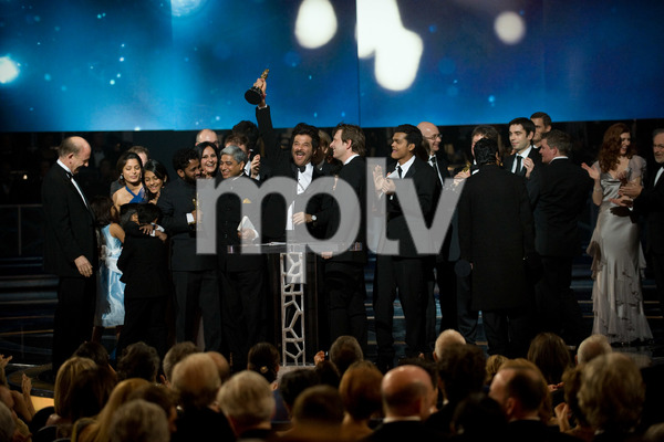 """The 81st Annual Academy Awards"" (Telecast)""Slumdog Millionaire"" cast02-22-2009Photo by Michael Yada © 2009 A.M.P.A.S. - Image 23704_0613"