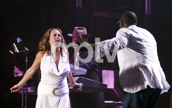 Teena Marie performing live with Johnny Gill at Magic Johnson