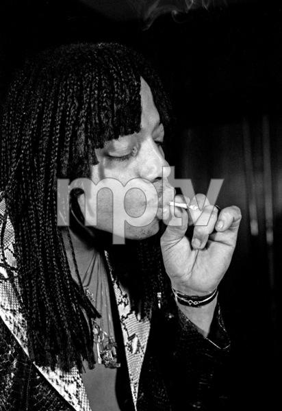 Rick James smoking a joint at home in the Hollywood Hillscirca 1978© 1978 Michael Lynn Jones - Image 23742_0051