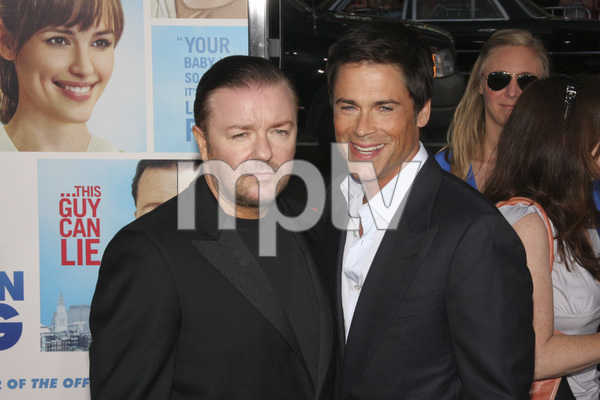 """The Invention of Lying"" Premiere Ricky Gervais, Rob Lowe9-21-2009 / Grauman"