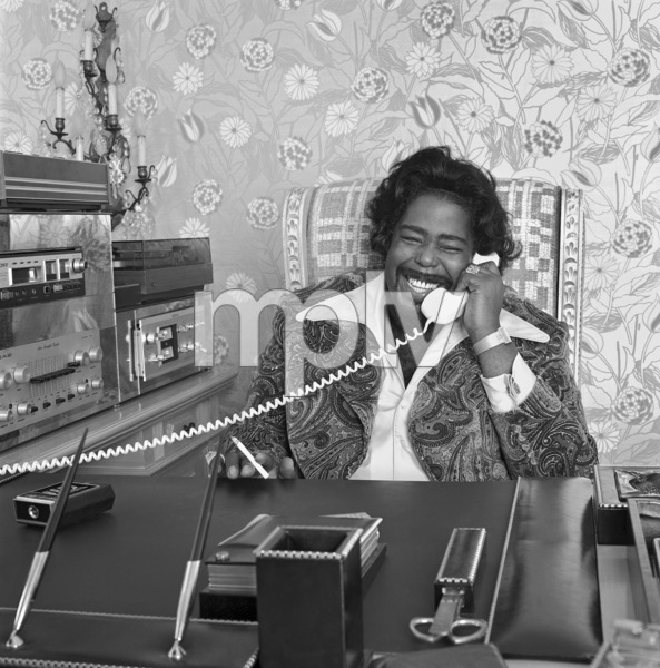 Barry White at his desk in office at Unlimited Gold Records in Los Angeles, CAcirca 1980 © 1980 Bobby Holland - Image 23798_0002