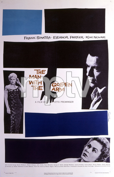 """""""The Man with the Golden Arm"""" (Saul Bass Poster)1955 United Artists** T.N.C. - Image 23838_0004"""