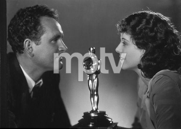 Janet Gaynor with her Best Actress Oscarand Director Frank Borzage1927**I.V.MPTV - Image 2385_0038