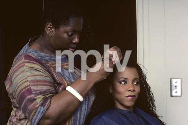 Patrice Rushen and hair stylist Sibongile Bradley1984© 1984 Bobby Holland - Image 23854_0008