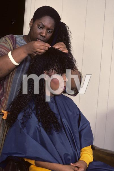 Patrice Rushen and hair stylist Sibongile Bradley 1984 © 1984 Bobby Holland - Image 23854_0030