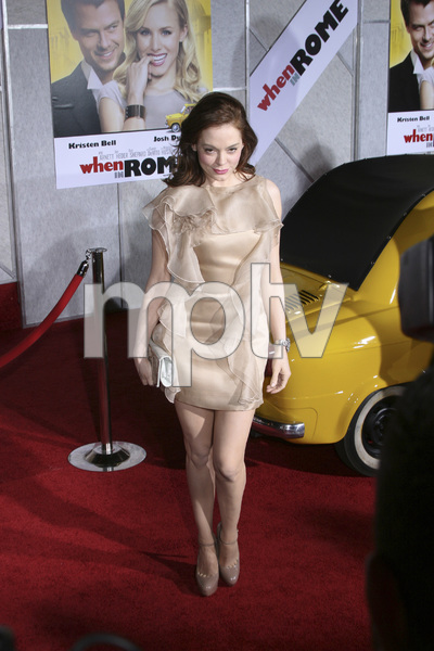 """When in Rome"" PremiereRose McGowan1-27-2010 / El Capitan Theater / Hollywood CA / Touchstone Pictures / Photo by Heather Hixon - Image 23871_0072"