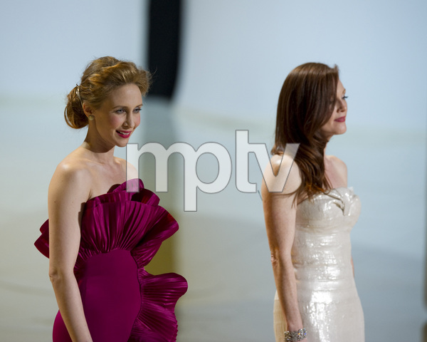 """The Academy Awards - 82nd Annual"" (Telecast)Vera Farmiga, Julianne Moore3-7-2010Photo by Matt Petit © 2010 A.M.P.A.S. - Image 23908_0276"
