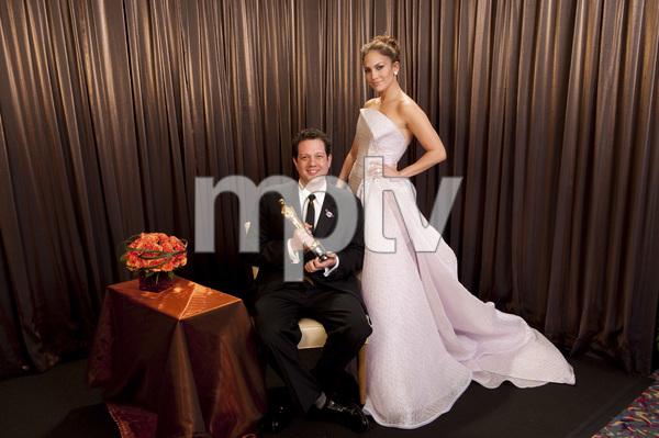 """The Academy Awards - 82nd Annual"" (Backstage)Michael Giacchino, Jennifer Lopez3-7-2010Photo by Todd Wawrychuk © 2010 A.M.P.A.S. - Image 23908_0436"