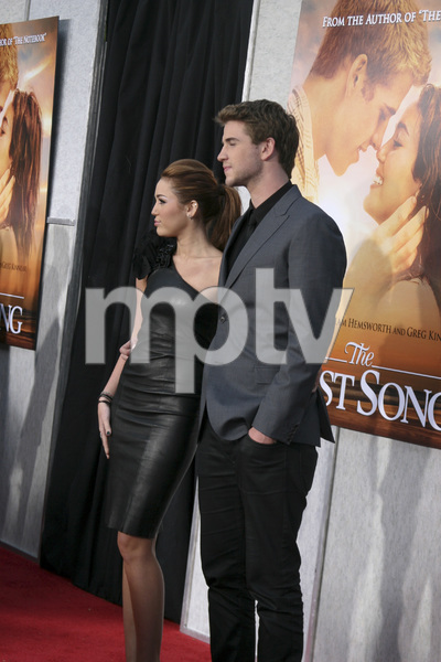"""The Last Song"" PremiereMiley Cyrus, Liam Hemsworth3-25-2010 / Arclight Theater / Hollywood CA / Touchstone Pictures / Photo by Heather Hixon - Image 23914_0149"