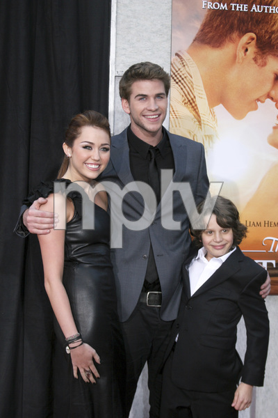 """""""The Last Song"""" PremiereMiley Cyrus, Liam Hemsworth, Bobby Coleman3-25-2010 / Arclight Theater / Hollywood CA / Touchstone Pictures / Photo by Heather Hixon - Image 23914_0160"""