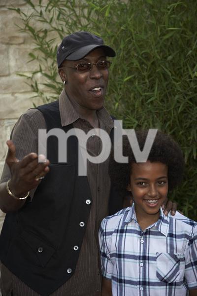 """The Karate Kid"" (Premiere)Arsenio Hall and son Arsenio Hall Jr.6-7-2010 / Mann"
