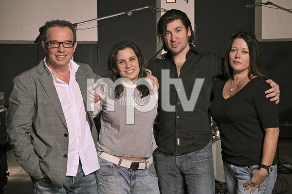 The Matrix production team at Sound City Studios in Los Angeles (Left to right: Graham Edwards, Christelle Dussault, Scott Spock, Lauren Christy)2009 © 2009 Bobby Holland - Image 23961_0001