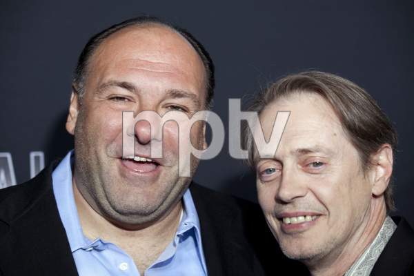 """Boardwalk Empire"" PremiereJames Gandolfini, Steve Buscemi 9-15-2010 / Siegfeld Theater / New York NY / HBO / Photo by Lauren Krohn - Image 23972_0223"