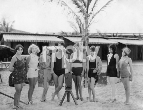 """News Parade"" Marie Deauville (2nd from right / Miss Miami Beach) 1928 Fox Film Corporation ** Sheryl Deauville Collection - Image 24002_0004"