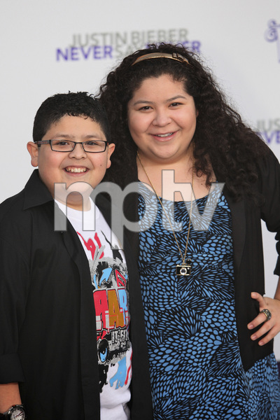 """Justin Bieber: Never Say Never"" Premiere Rico Rodriguez, Raini Rodriguez 2-8-2011 / Nokia Theater L.A. Live / Paramount Pictures / Los Angeles CA / Photo by Imeh Akpanudosen - Image 24016_0008"