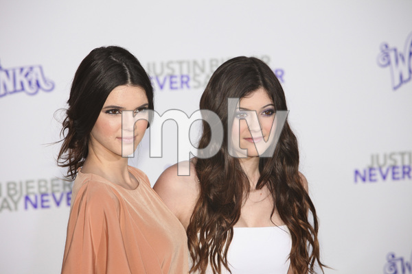 """""""Justin Bieber: Never Say Never"""" Premiere Kendall Jenner, Kylie Jenner 2-8-2011 / Nokia Theater L.A. Live / Paramount Pictures / Los Angeles CA / Photo by Imeh Akpanudosen - Image 24016_0187"""