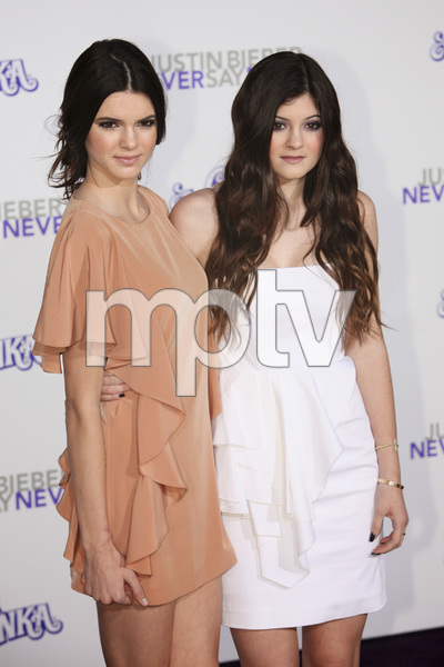 """""""Justin Bieber: Never Say Never"""" Premiere Kendall Jenner, Kylie Jenner 2-8-2011 / Nokia Theater L.A. Live / Paramount Pictures / Los Angeles CA / Photo by Imeh Akpanudosen - Image 24016_0188"""