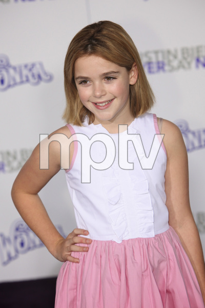 """""""Justin Bieber: Never Say Never"""" Premiere Kiernan Shipka 2-8-2011 / Nokia Theater L.A. Live / Paramount Pictures / Los Angeles CA / Photo by Imeh Akpanudosen - Image 24016_0265"""