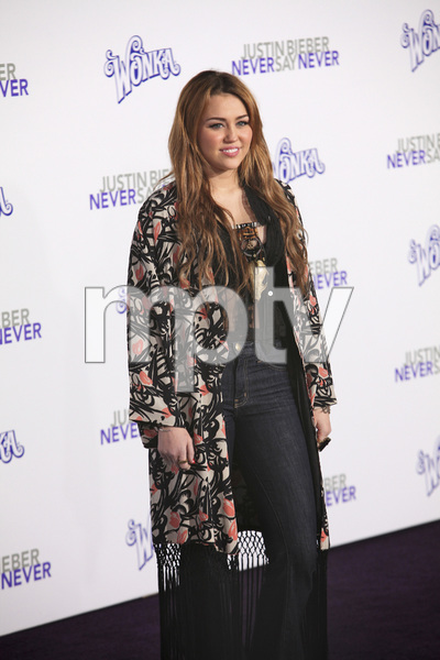 """""""Justin Bieber: Never Say Never"""" Premiere Miley Cyrus 2-8-2011 / Nokia Theater L.A. Live / Paramount Pictures / Los Angeles CA / Photo by Imeh Akpanudosen - Image 24016_0467"""