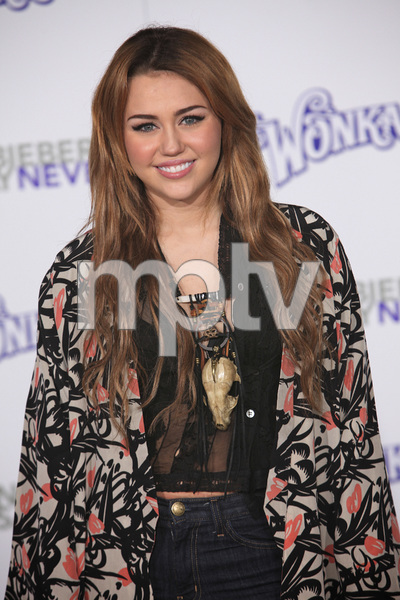 """""""Justin Bieber: Never Say Never"""" Premiere Miley Cyrus 2-8-2011 / Nokia Theater L.A. Live / Paramount Pictures / Los Angeles CA / Photo by Imeh Akpanudosen - Image 24016_0471"""