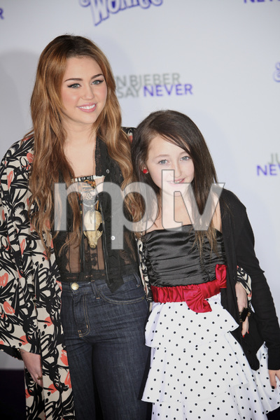 """""""Justin Bieber: Never Say Never"""" Premiere Miley Cyrus 2-8-2011 / Nokia Theater L.A. Live / Paramount Pictures / Los Angeles CA / Photo by Imeh Akpanudosen - Image 24016_0472"""