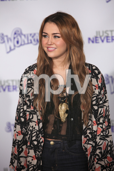 """""""Justin Bieber: Never Say Never"""" Premiere Miley Cyrus 2-8-2011 / Nokia Theater L.A. Live / Paramount Pictures / Los Angeles CA / Photo by Imeh Akpanudosen - Image 24016_0474"""