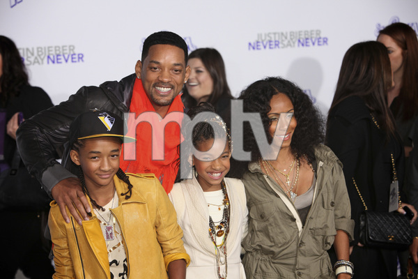 """Justin Bieber: Never Say Never"" Premiere Will Smith, Jada Pinkett Smith, Jaden Smith, Willow Smith 2-8-2011 / Nokia Theater L.A. Live / Paramount Pictures / Los Angeles CA / Photo by Imeh Akpanudosen - Image 24016_0477"