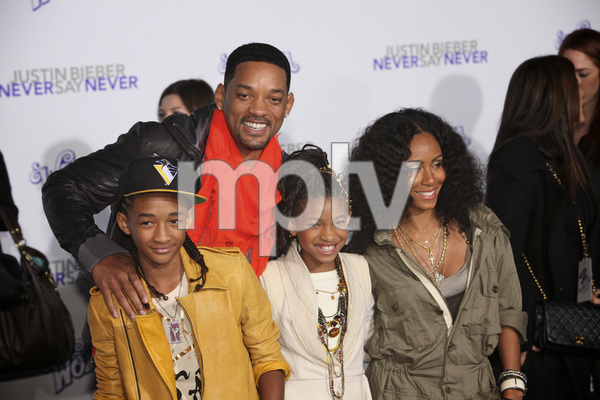 """""""Justin Bieber: Never Say Never"""" Premiere Will Smith, Jada Pinkett Smith, Jaden Smith, Willow Smith 2-8-2011 / Nokia Theater L.A. Live / Paramount Pictures / Los Angeles CA / Photo by Imeh Akpanudosen - Image 24016_0478"""